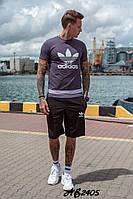 Мужской спортивный костюм,высокого качества с двухнити и котона,Футболка и шорты (48-54), фото 1