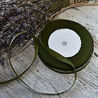 Репсовая лента 1 см / цвет хаки / ширина 1 см / бобина 23 м