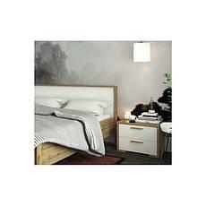 Тумба прикроватная в спальню из ДСП Франческа Сокме дуб вотан/белый , фото 2