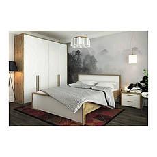 Тумба прикроватная в спальню из ДСП Франческа Сокме дуб вотан/белый , фото 3