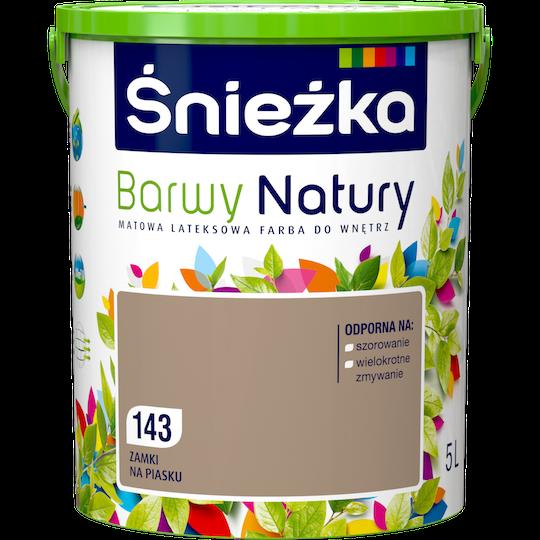 Краска латексная Sniezka Barwy Natury 143T Песочные замки 5 л