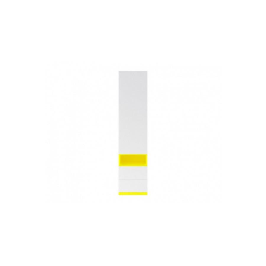 Шкаф пенал в детскую комнату из ДСП Моби REG1D2S желтый /нимфеа альба