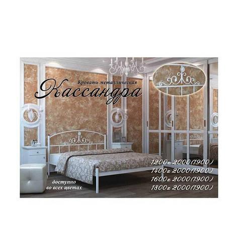 Кровать Кассандра 120х200 см. Металл-Дизайн , фото 2