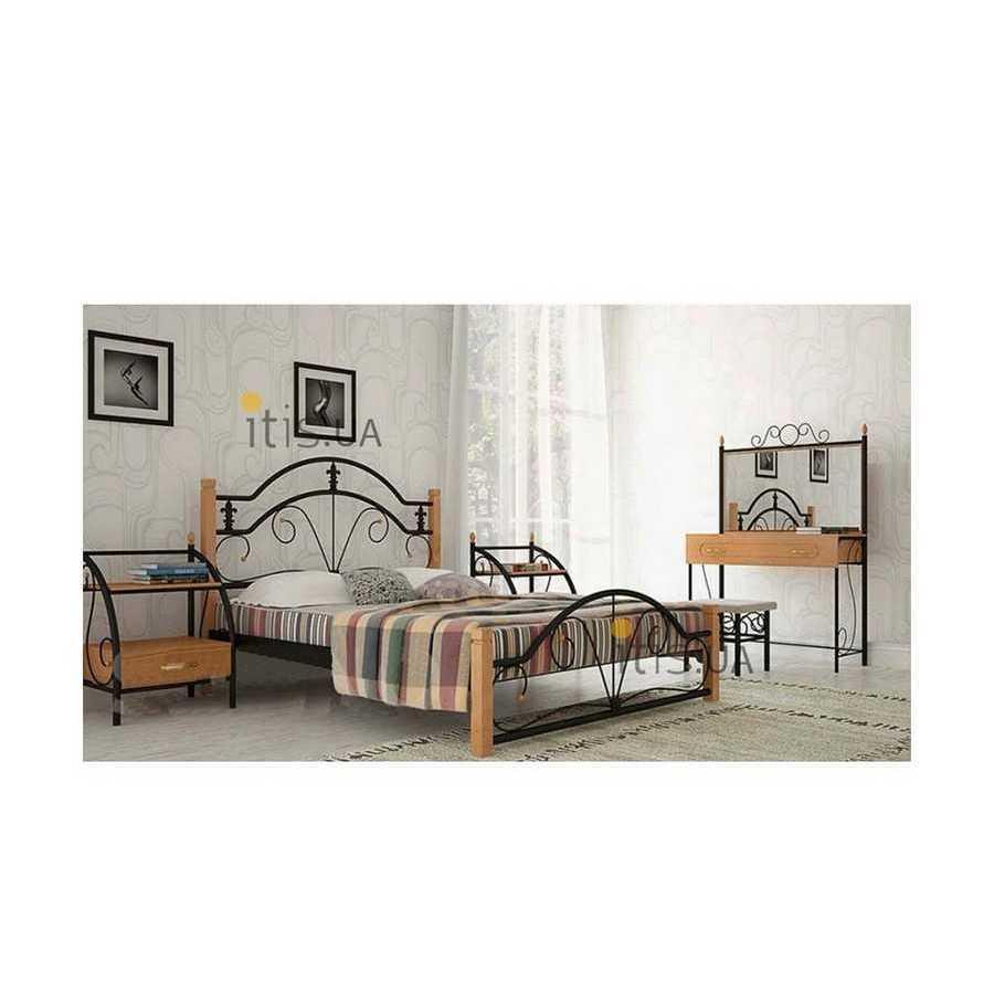 Кровать Диана Вуд 80х190 см. Металл-Дизайн