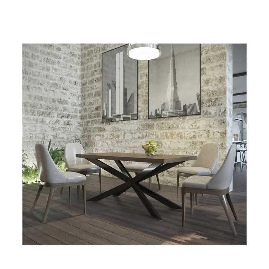 Стол обеденный Икс Металл-Дизайн