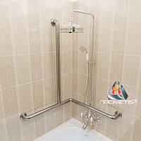 Поручень для ванны трех опорный, левый правый, размер 620х640х880 мм, D трубы 38 мм