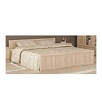 Кровать Соната Дуб Самоа - Мебель Сервис без ламелей