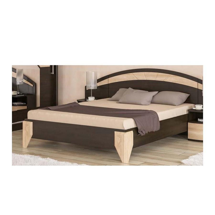 Кровать Аляска Венге Темный - Мебель Сервис