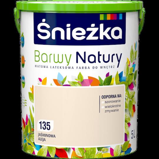 Краска латексная Sniezka Barwy Natury 135T Жасминовая аллея 5 л