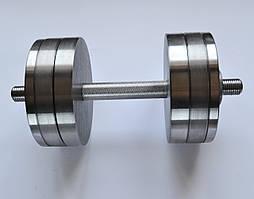 Гантеля сталева 1 шт. 20 кг