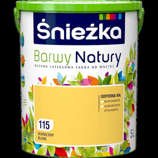 Краска латексная Sniezka Barwy Natury 115T Солнечный блеск 5 л