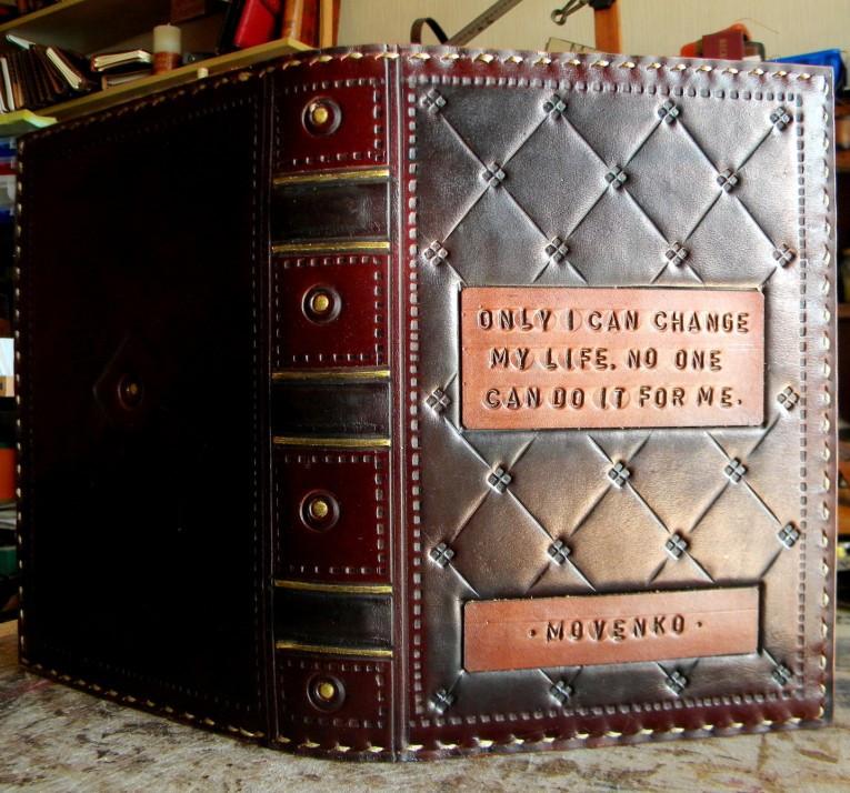 Блокнот ежедневник кожаный заказ надпись ручной работы формат A5 оригинальный подарок