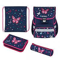 50025701 Ранец школьный укомплектованный Herlitz LOOP PLUS Butterfly вышивка пайетками которые, фото 1