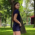 Річний модний костюм футболка+шорти темно-синій, фото 2