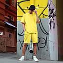 Летний комплект: жёлтая футболка мужская Quil (Квил)+ жёлтые шорты мужские  Duncan (Дункан) S, M, L, XL, фото 2
