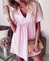 Стильне літнє плаття разлетайка від грудей з софта(42-46), фото 1