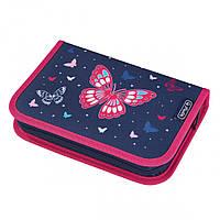 50026005B Пенал пустой Herlitz Standard Butterfly Бабочки