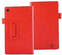 Кожаный чехол-книжка TTX с функцией подставки для Asus MeMo Pad 7 ME572 Красный