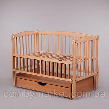 Кроватка детская Дубок Элит 2 маятник/ящик откидной бортик