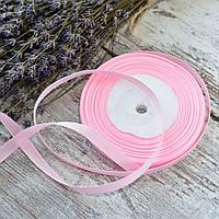 Репсовая лента 1 см / цвет светло-розовый / ширина 1 см / бобина 23 м