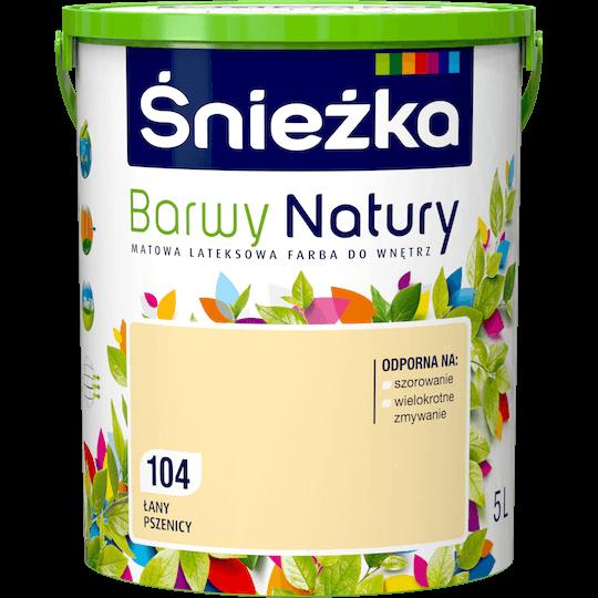 Краска моющаяся латексная Sniezka Barwy Natury 104T ПШЕНИЧНЫЕ ПОЛЯ 5 л