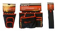 Подсумок 8 карманов+Кобура для шуруповерта с карманом для бит и сверл MTX+Пояс к карманам для инструментов MTX