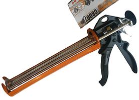 Пистолет для герметика усиленный Richman с тройным штоком 225 мм 300 мл