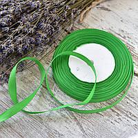 Репсовая лента 1 см / цвет зеленый / ширина 1 см / бобина 23 м