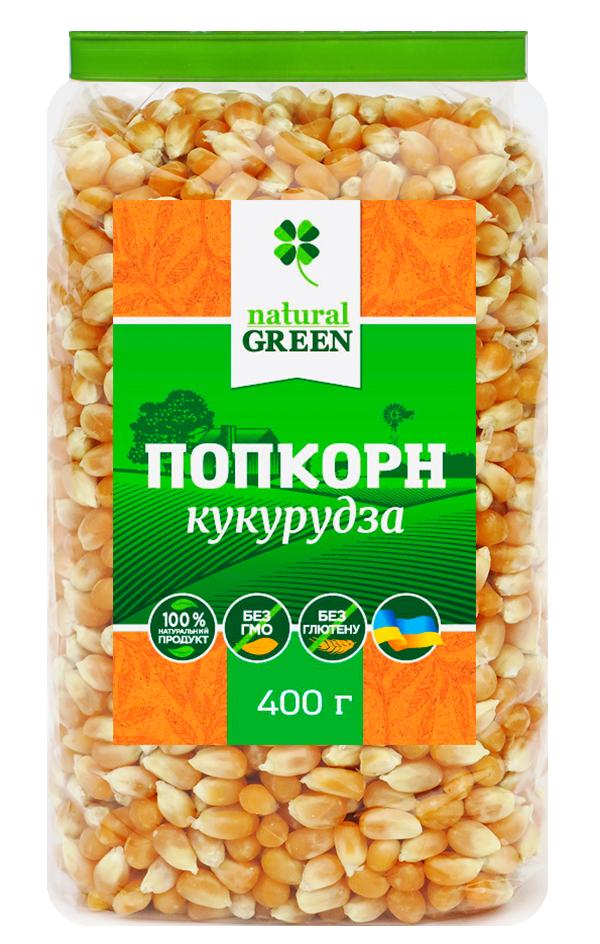 Кукуруза поп-корн, 400 г, NATURAL GREEN