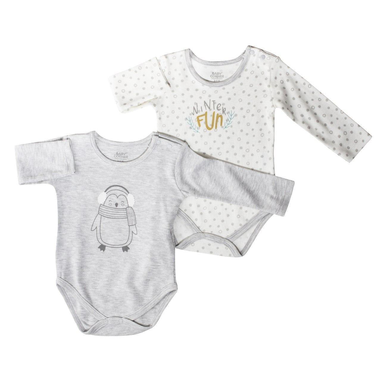Комплект з двох боді для немовляти, розмір 0/3 міс