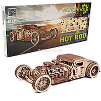 Деревянный конструктор Wood Trick 3d пазл Хот род, 280 дет (4820195190968)