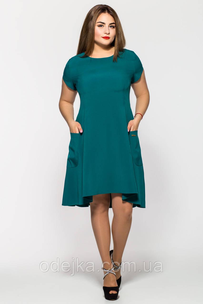Сукня Мілана короткий рукав пляшкового кольору