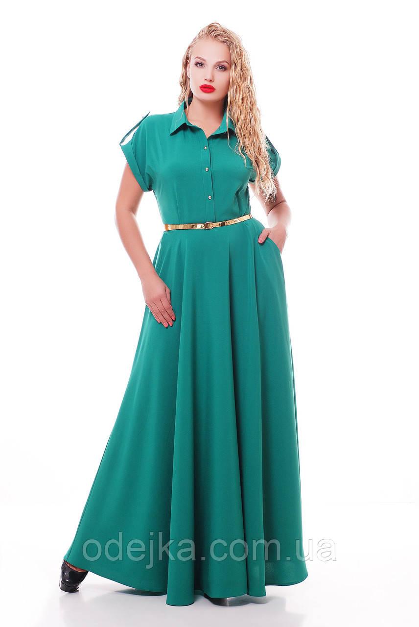 Элегантное длинное платье Алена цвета мята