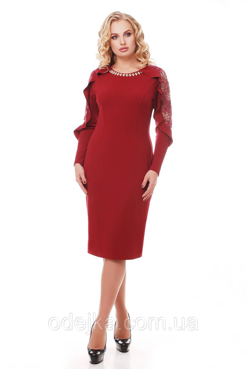 Нарядное платье Рамина бордо