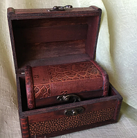 Деревянная шкатулка, сундук деревянный 2 в 1