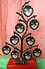 Фоторамка, фото дерево на 9 фотографий, высота 28 см.
