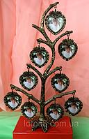 Фоторамка, фото дерево на 9 фотографій, висота 28 див.