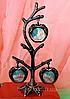 Фоторамка, фото дерево на 3 фотографии, высота 19 см.