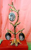 Фоторамка, фото дерево на 6 фотографий, высота 19 см.