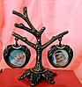 Фоторамка, фото дерево на 2 фотографии, высота 11 см.