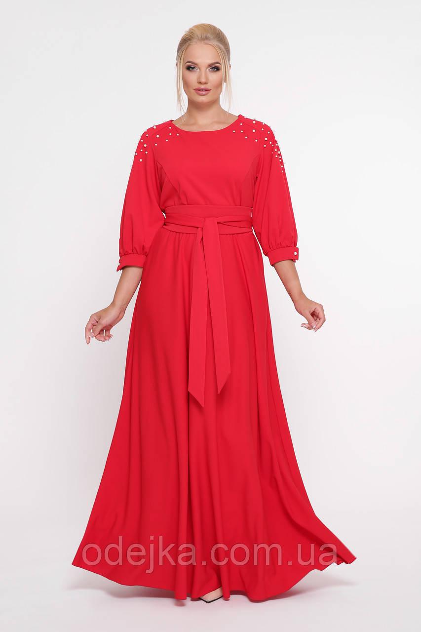 Шикарне плаття в підлогу Вів'єн червоне
