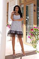 Жіноча сукня вільного крою в горошок (42-52), фото 1