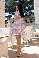 Женское платье свободного кроя с кружевом и цветочным принтом (42-52), фото 1