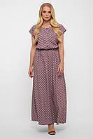 Длинное женское платье Влада лиловое
