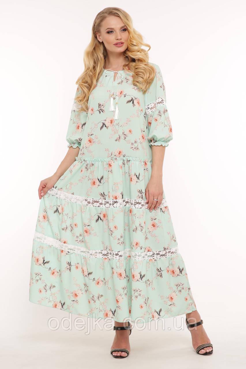 Платье макси Анна мята