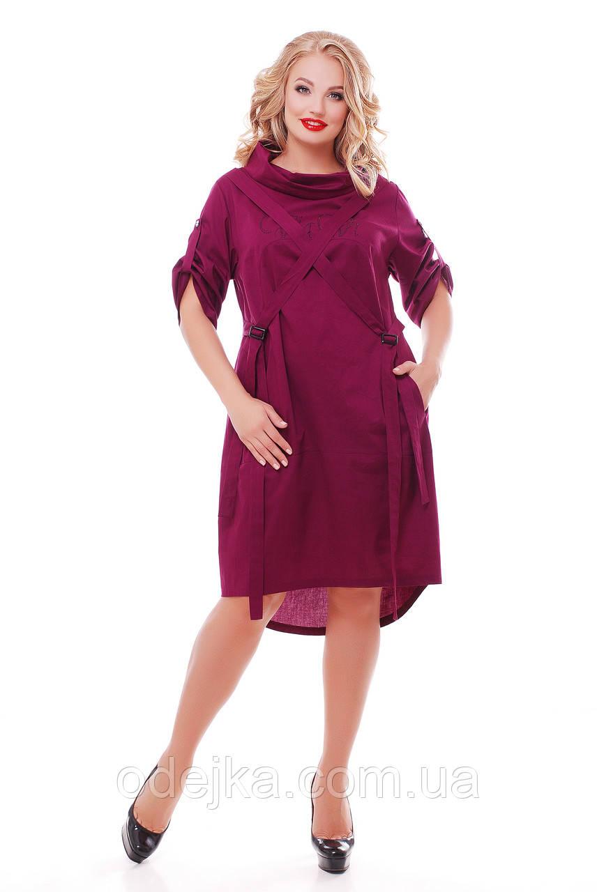 Платье женское Берта винного цвета