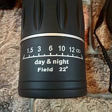 Монокуляр BUSHNELL 16x52 с двойной фокусировкой + чехол (Настоящие фото товара), фото 2