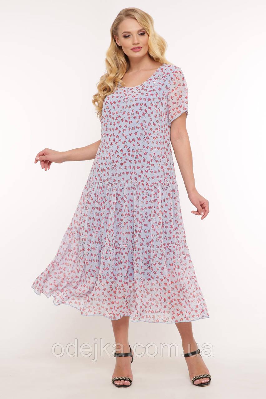 Платье летнее Катаисс голубое