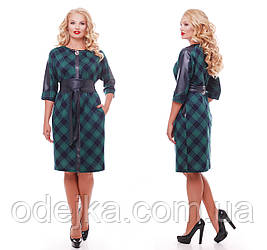 Сукня жіноча Кетлін зелене клітка