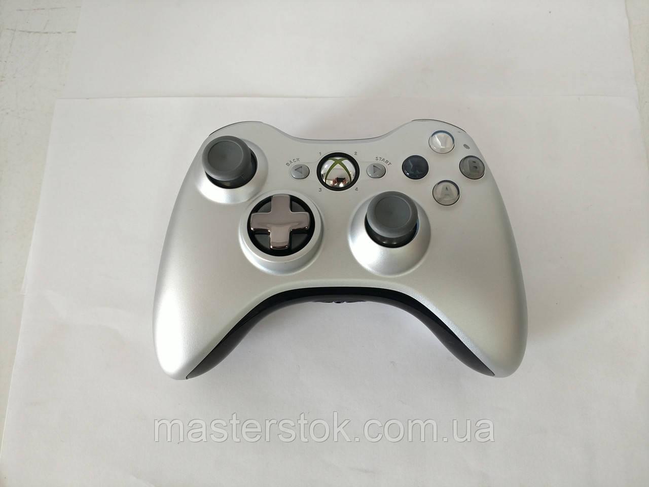 Джойстик беспроводной черно-серый для Xbox 360